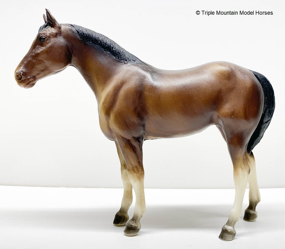 Special Spring Run Breyer Lineback Dun Overo Yearling INDIANA American Quarter Horse